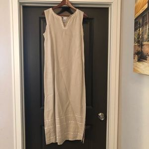 Carole Little Tan Dress Maxi Womens Size 4